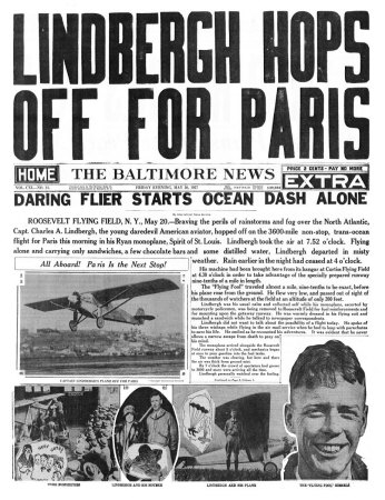 the-baltimore-news-may-20-1927-lindbergh-hops-off-for-paris
